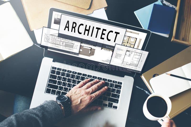 Architekt architektura Mieści Podłogowego planu pojęcie obraz royalty free