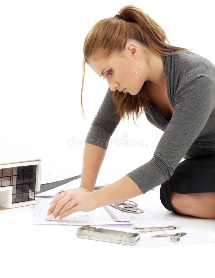 Architekt bei der Arbeit #2 lizenzfreies stockbild