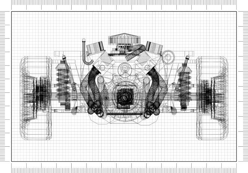 Architekt Blueprint vektor abbildung