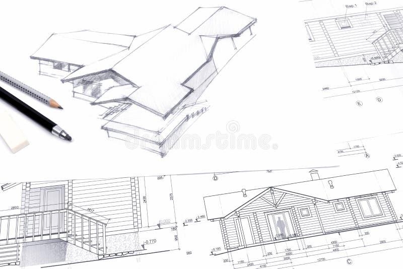 Beautiful Download Architekt, Der Eine Skizze Mit Bleistift Zeichnet Stock Abbildung    Illustration Von Konzept,