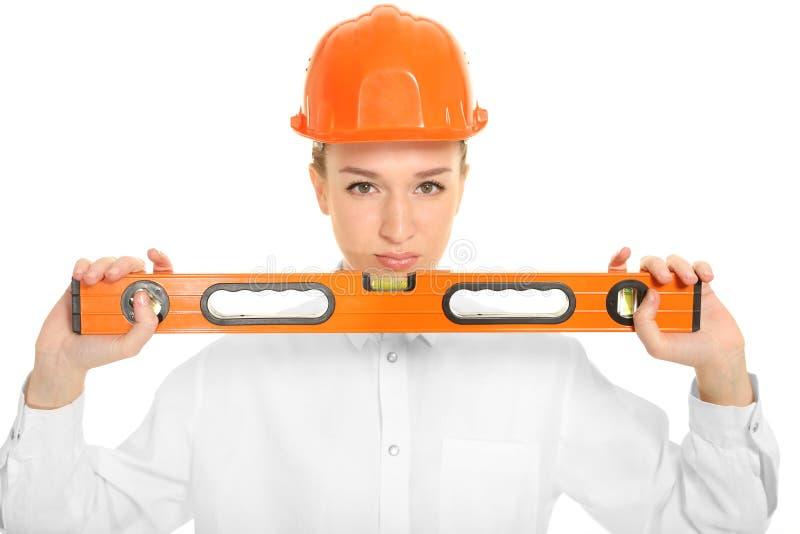 Architekt der jungen Frau stockfoto