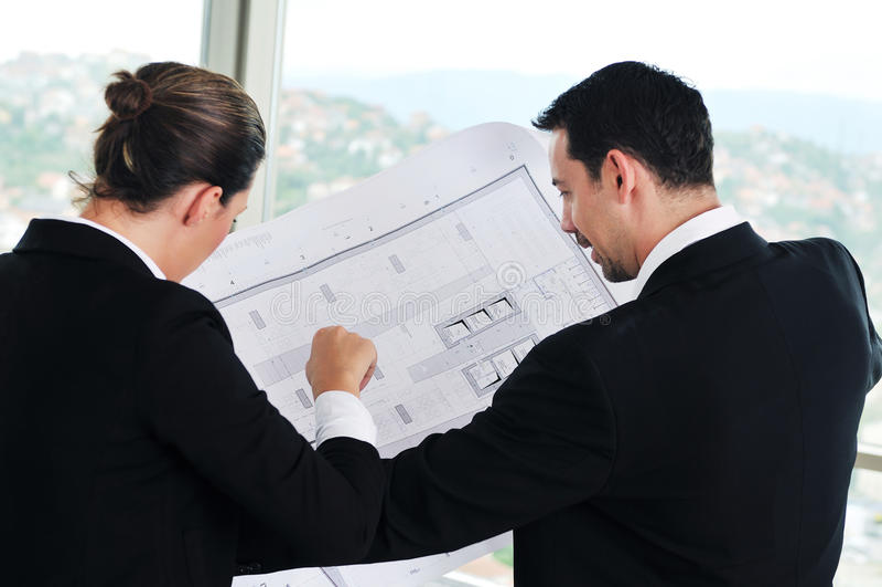 Architekt młoda drużyna obrazy stock