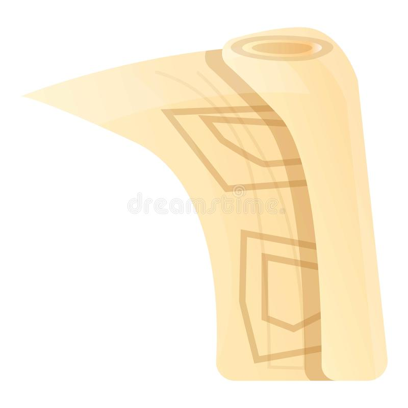 Architekt papierowa ikona, kreskówka styl ilustracja wektor