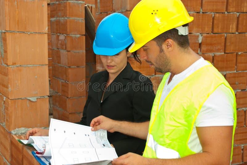 architekt rozmowa dwa zdjęcia stock