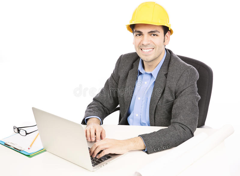 Architekt w biurze obraz stock