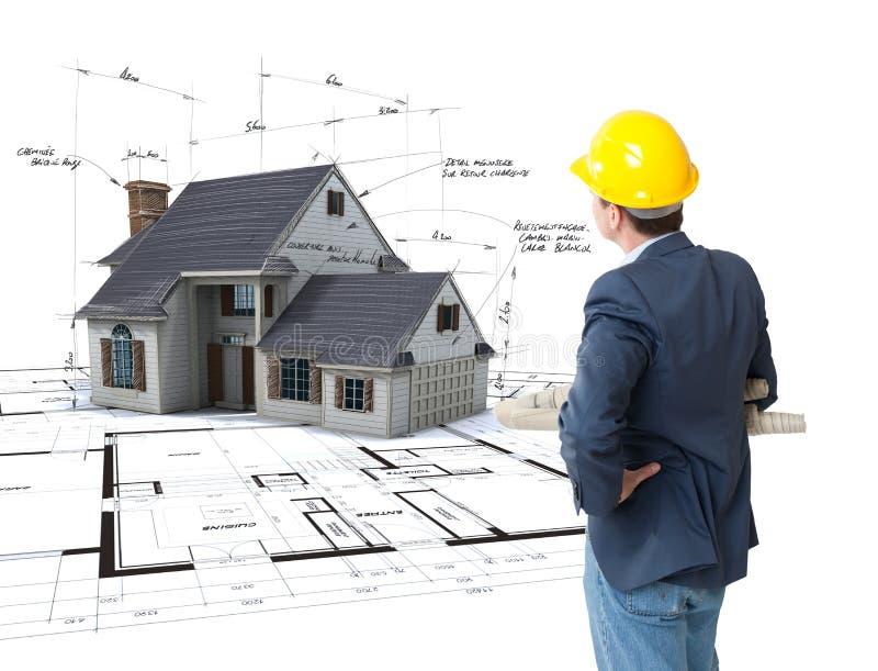 Architekt wyobraża sobie jego projekt obraz stock