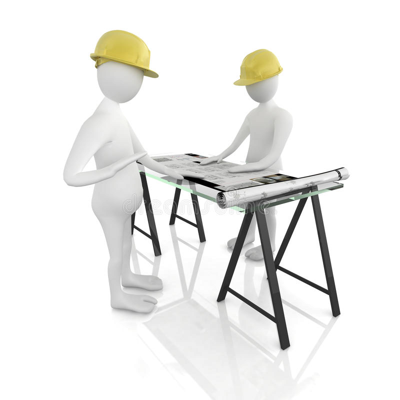 architekta biurko ilustracja wektor