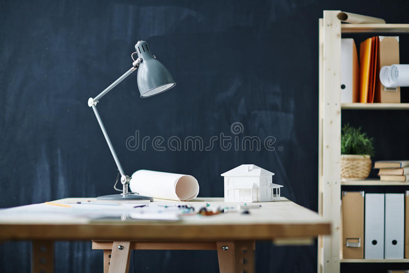 Architekta biuro z kopii przestrzenią obrazy stock