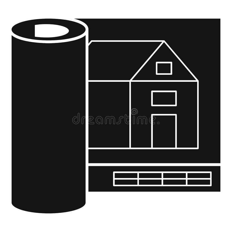 Architekta domu projekta ikona, prosty styl ilustracji
