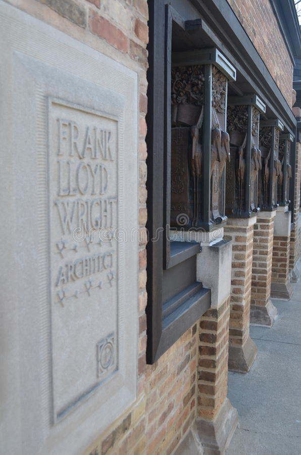 Architekta Frank Lloyd Wright domu studio fotografia royalty free