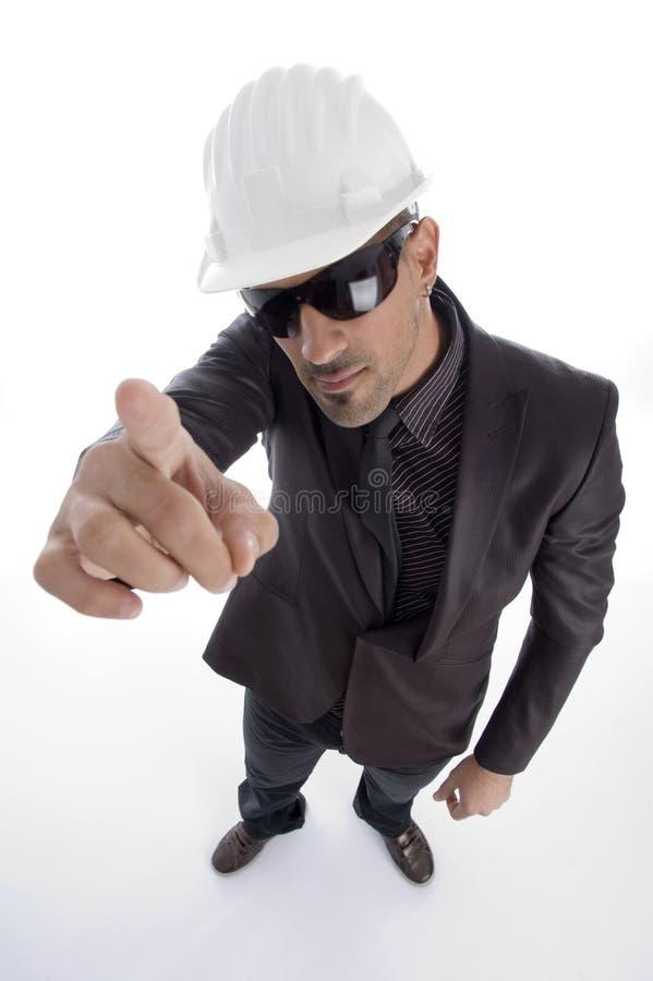 architekta hełma biznesowy być ubranym zdjęcie stock