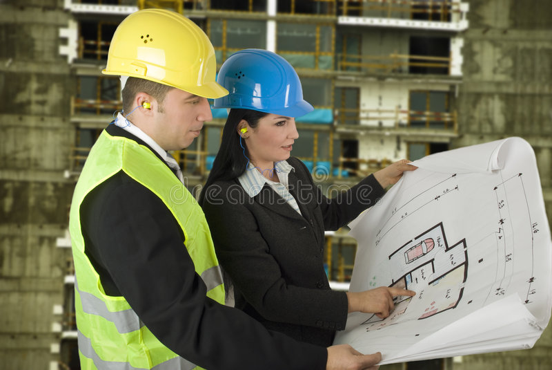 architekta inżyniera miejsce obraz stock