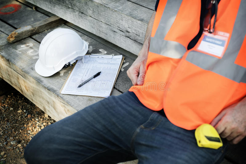 Architekten-Contractor Professional Building-Karriere-Konzept stockfotos