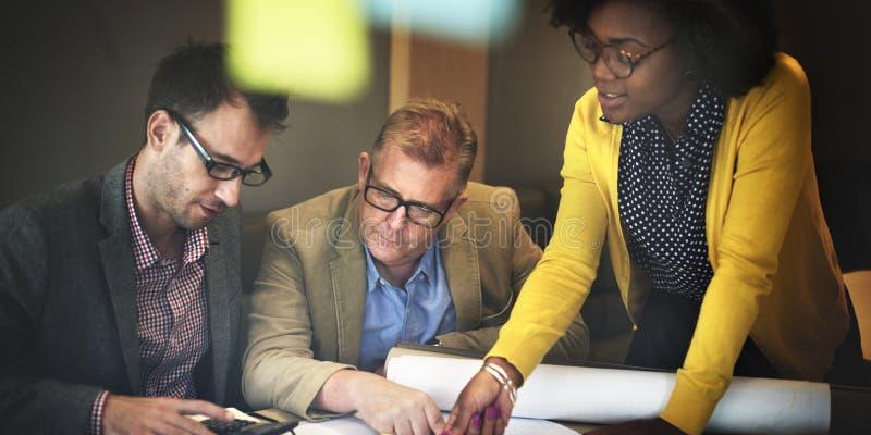 Architekten-Design Project Meeting-Diskussions-Konzept lizenzfreie stockfotos