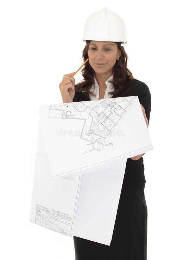 Architektenfrau lizenzfreie stockfotos