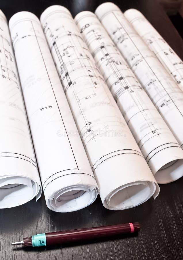 Download Architektenplan- Und -projektlichtpausen Stockbild - Bild von messen, automobil: 26359445