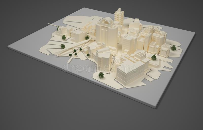Architektenplanmodell stockfotos