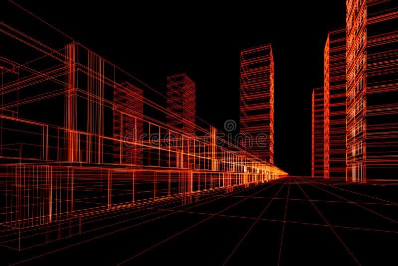 architektoniczna abstrakcyjna budowlanych ilustracji