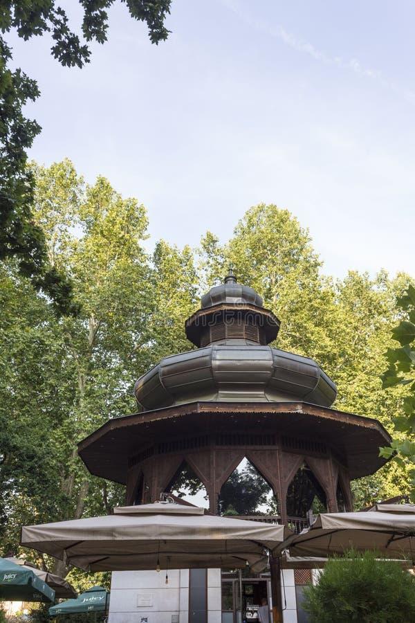 Architektoniczna cecha Muzyczny pawilon zdjęcie stock