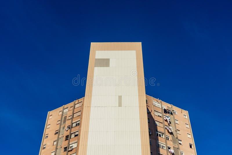 Architektoniczna geometria w Palmie de Mallorca zdjęcia stock
