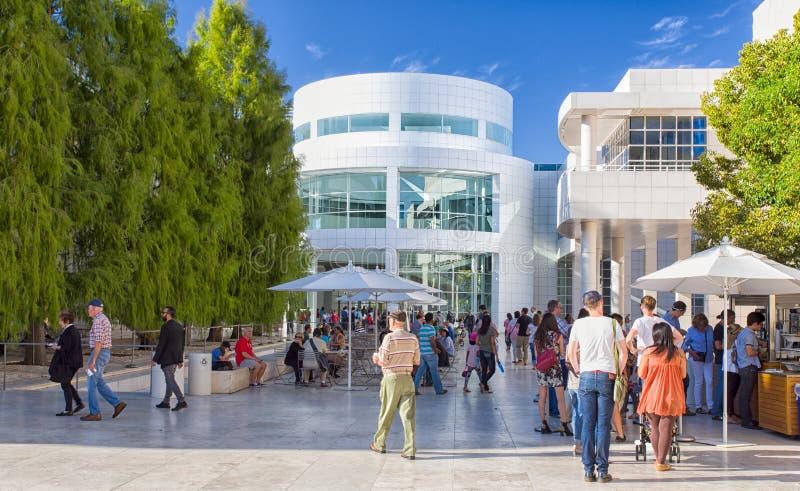 Architektoniczne cechy Getty centrum zdjęcia royalty free