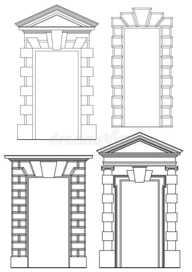 architektoniczni elementy royalty ilustracja