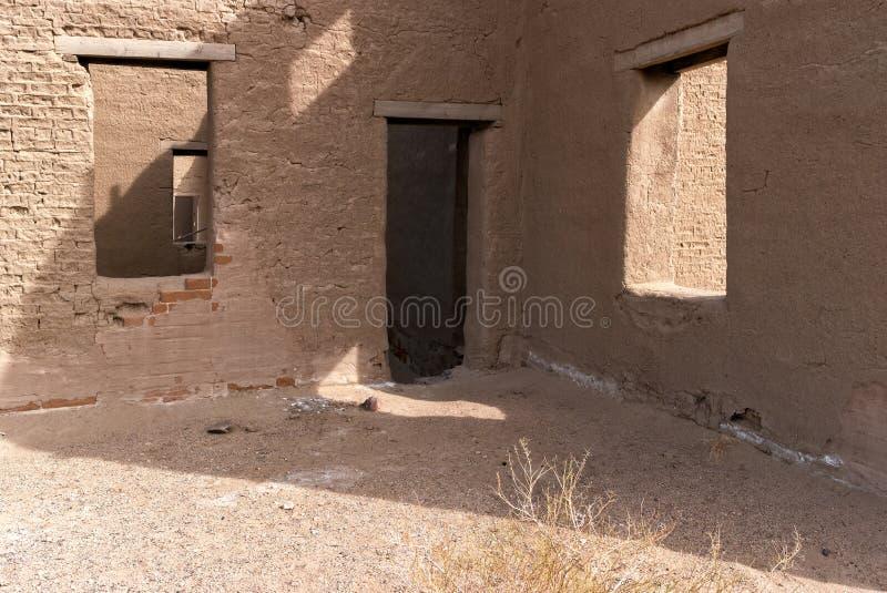 Architektoniczni szczegóły, fortu Churchill stanu park w Nevada fotografia stock