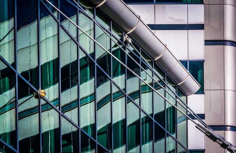 Architektoniczny abstrakt brać w Wewnętrznym schronieniu Baltimore, M fotografia stock