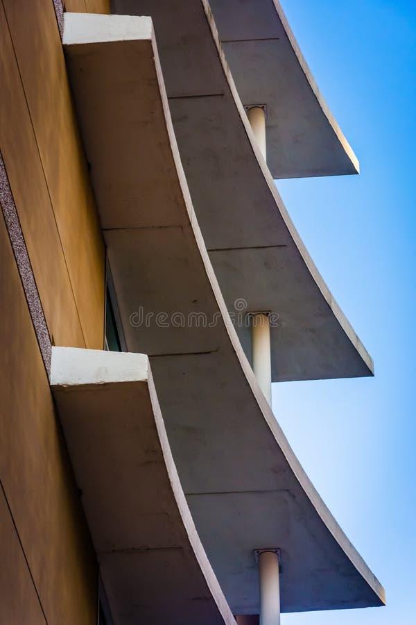 Architektoniczny abstrakt w w centrum Wilmington, Delaware obraz royalty free