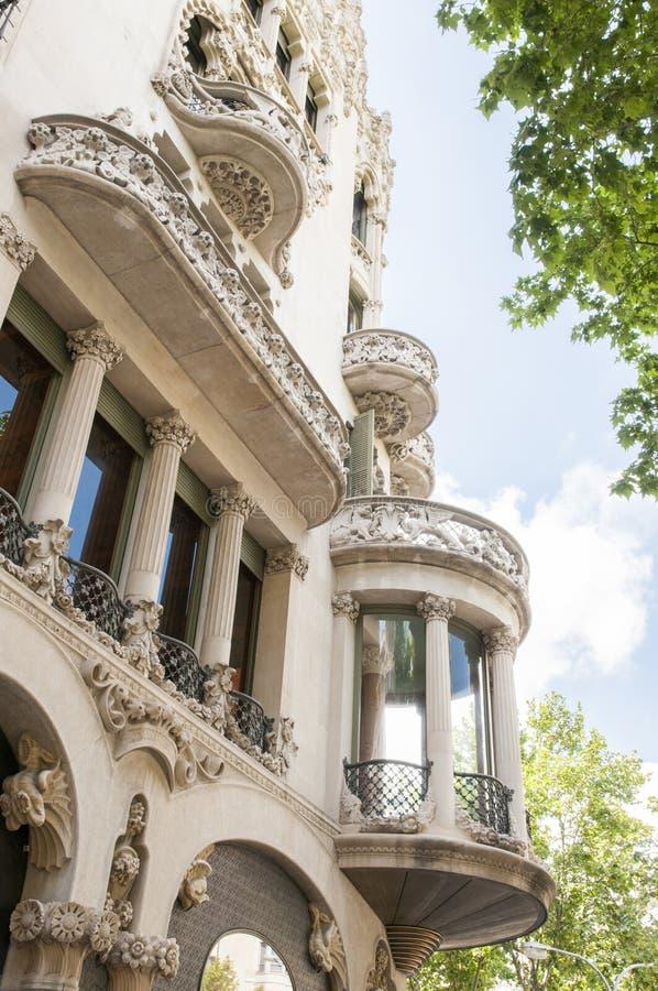 Architektoniczny budynek w Barcelona zdjęcia stock