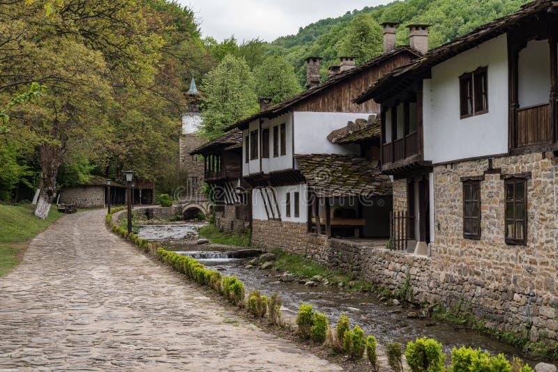 Architektoniczny etnograficzny kompleksu Etar ? obraz royalty free