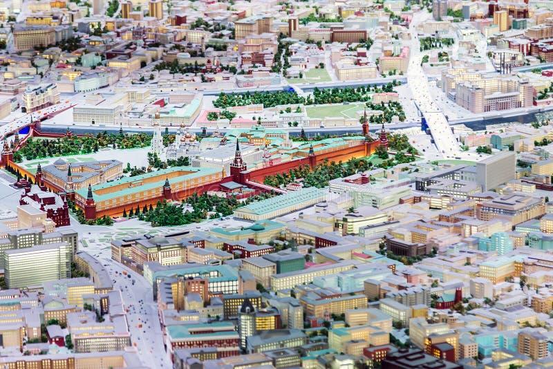Architektoniczny model Moskwa eksponat dla moskwiczaninów i gości kapitał obraz royalty free