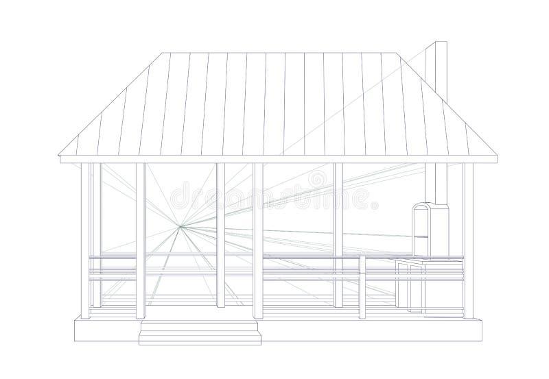 Architektoniczny nakreślenie ilustracja wektor