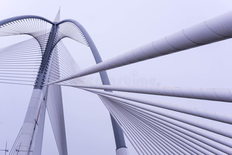 Architektoniczny projekt Na moście fotografia stock