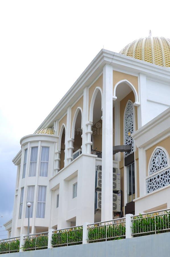 Architektoniczny projekt nowy meczet w Bandar Bar Bangi Umm fotografia stock