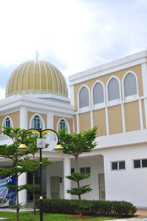 Architektoniczny projekt nowy meczet w Bandar Bar Bangi Umm zdjęcie stock