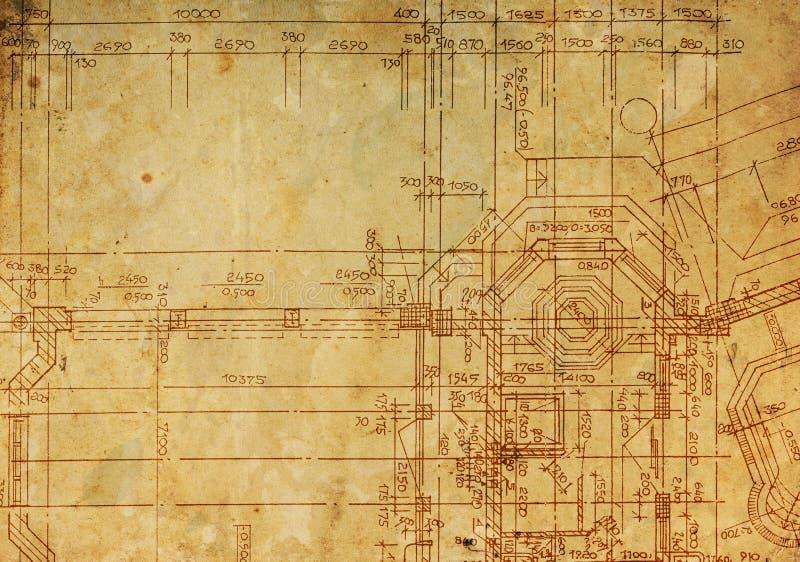 Architektoniczny rocznika rysunek ilustracja wektor