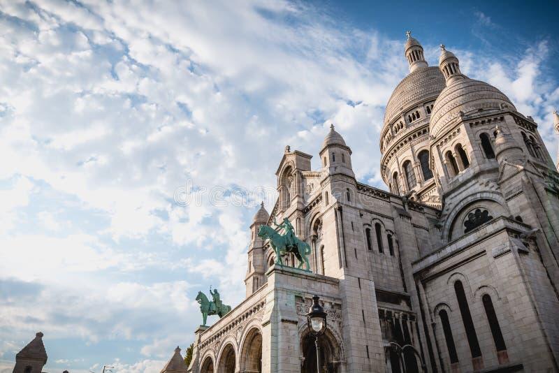 Architektoniczny szczegół bazylika Święty serce Pari obrazy royalty free