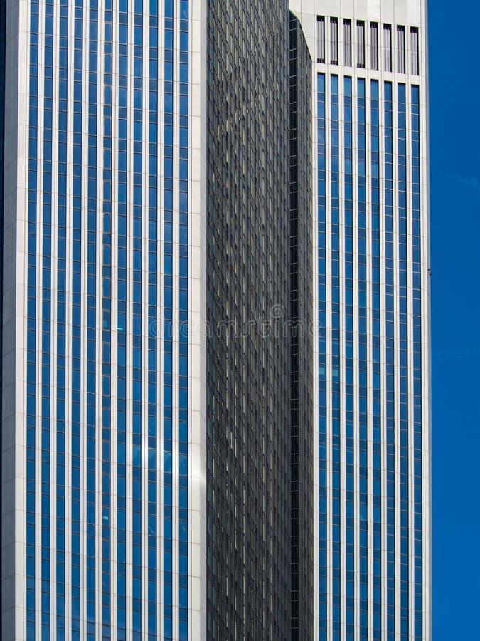 Architektoniczny szczegół biznesowy budynek w Frankfurt, Niemcy obrazy royalty free