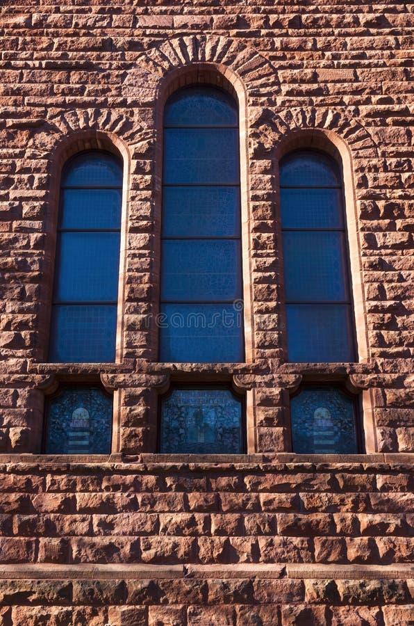 Architektoniczny szczegół budynku Windows i ściana zdjęcie royalty free