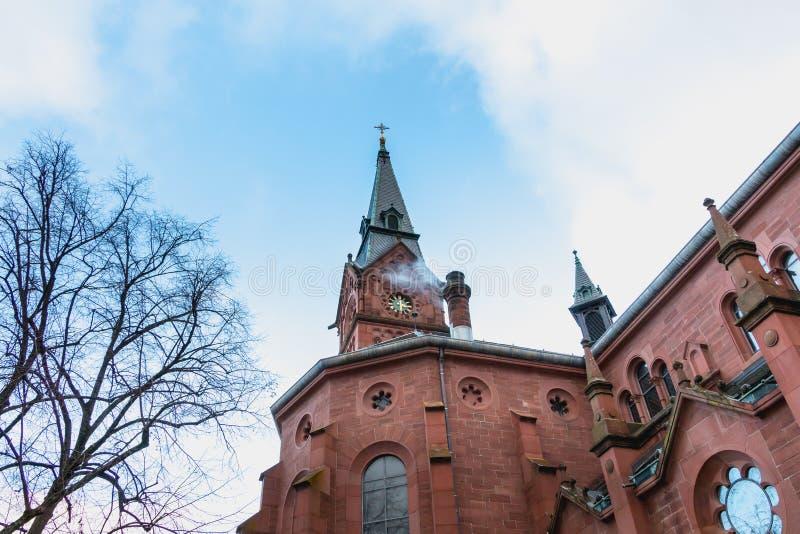 Architektoniczny szczegół ewangelisty Kirche Paul kościół fotografia royalty free