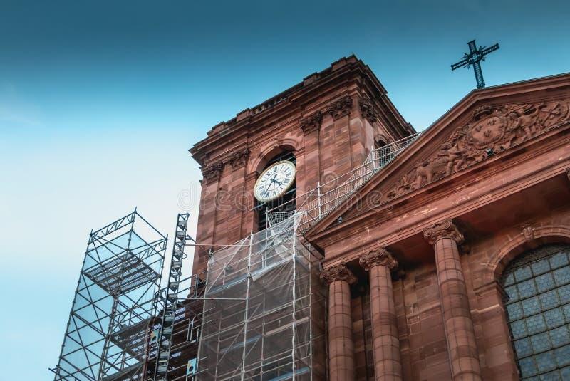 Architektoniczny szczegół katedra Christophe De Bel obrazy royalty free