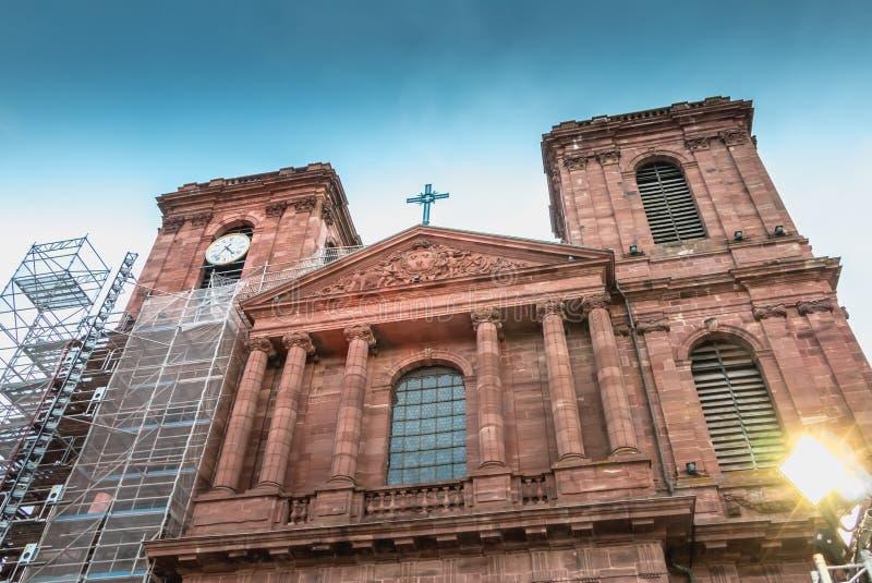 Architektoniczny szczegół katedra Christophe De Bel fotografia stock