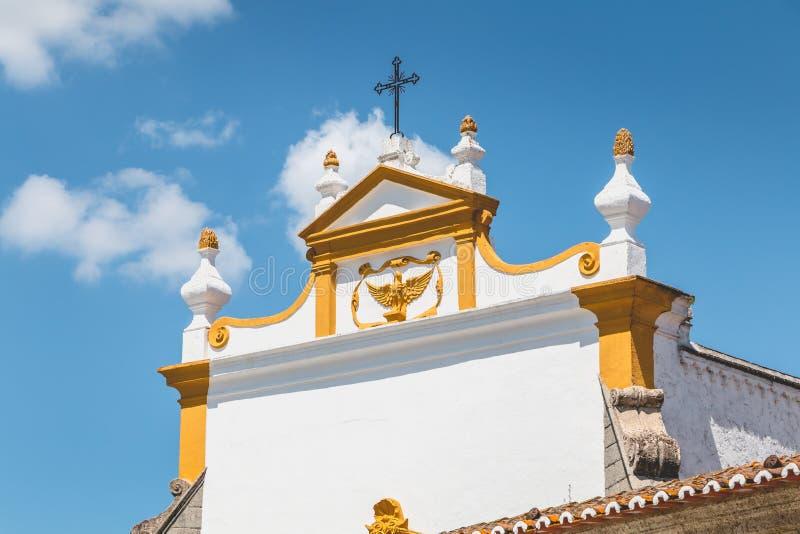 Architektoniczny szczegół klasztor Loios w Evora obrazy stock