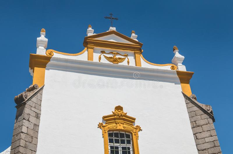 Architektoniczny szczegół klasztor Loios w Evora zdjęcie royalty free