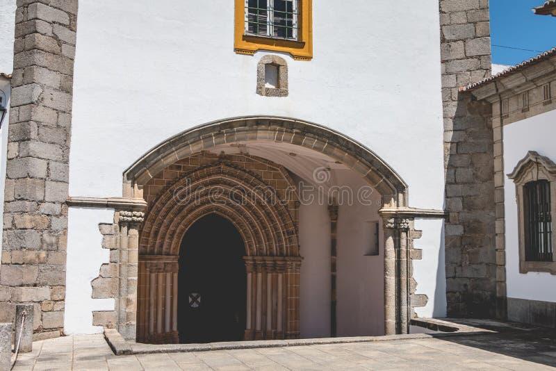 Architektoniczny szczegół klasztor Loios w Evora zdjęcia stock