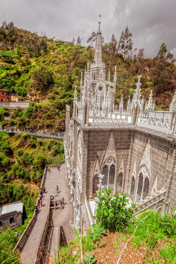 Architektoniczny szczegół Na Lasu Lajas katolika katedrze zdjęcie royalty free