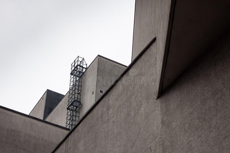 Architektoniczny szczegół nowożytny budynek fotografia royalty free