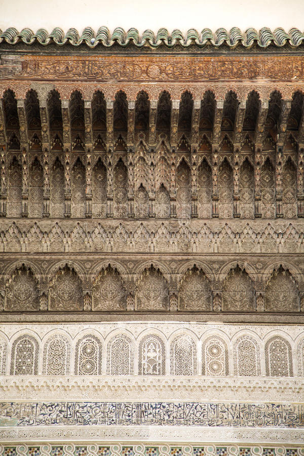 Architektoniczny szczegół od Fes, Maroko zdjęcie stock
