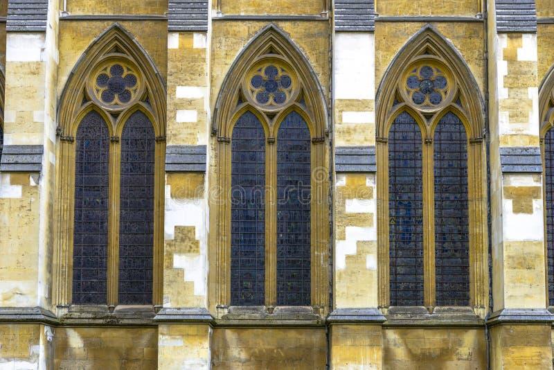 Architektoniczny szczegół opactwo abbey w Londyn obrazy stock
